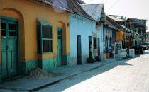 Straße in Flores, Guatemala