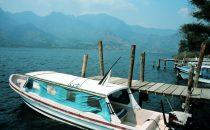 Wassertaxi in San Pedro La Laguna am Atitlánsee, Guatemala