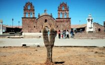 Church of Laja, Altiplano, Bolivia