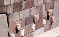 abgesenkter Tempel mit Kopfskulpturen, Tiwanaku - Tiahuanaco, Bolivien