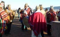 Zeremonie zur Sonnenwende, Tiwanaku, Bolivien