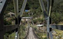 Brücke im Ort Choro, Bolivien © Bertram Roth