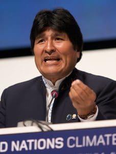Evo Morales, Präsident Boliviens, Dezember 2009.