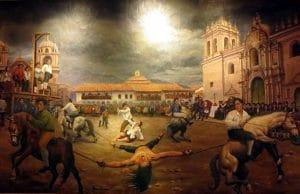 Hinrichtung des Tupac Amaru II in Cusco