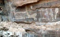 "Petroglyphen im ""Cañon la Trinidad"", Baja California, Mexiko"