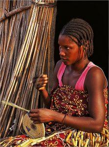 junge Owambo Frau