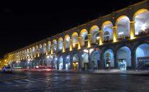 Plaza de Armas bei Nacht, Arequipa, Peru
