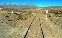 Bahnstrecke bei Arequipa, Peru
