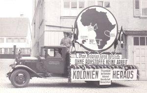 Werbung für deutsche Kolonien in Afrika