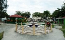 Plaza in Orange Walk Town, Belize