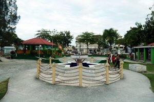Plaza in Orange Walk Town, Belize