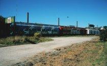 ausrangierte Waggons in Puerto Montt, Chile