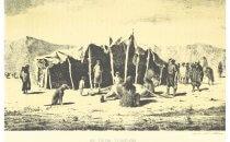 Zelt (Toldo) der Tehuelche 1879, Chile