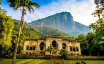 Parque Lage mit Corcovado im Hintergrund, Rio de Janeiro, Brasilien