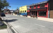 Straße in Puerto Natales, Patagonien, Chile