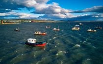 fisher boats in Puerto Natales, Patagonia, Chile