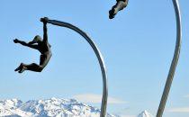 Skulptur am Ufer in Puerto Natales, Patagonien, Chile