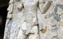 Stele in Palenque, Chiapas, Mexico