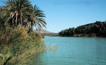 Lagune am Ortsrand vonSan Ignacio