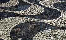 Pflaster auf dem Platz São Sebastião, Manaus, Brasilien