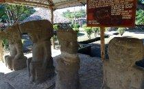präkolumbianische Skulpturen in Altagracias, Isla Ometepe, Nicaragua