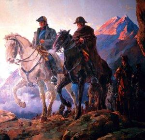 José de San Martín überquert mit seine Armee die Anden