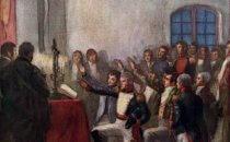 Darstellung der Vereidigung der ersten argentinischen Regierungsjunta am 25.Mai 1810 des chilenischen Malers Pedro Subercaseaux.