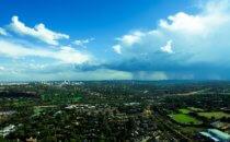Blicküber Johannesburg, Südafrika