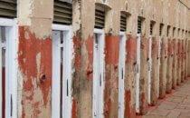 Gefängniszellen im Constitution Hill Museum, Johannesburg, Südafrika