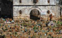 Friedhof in San Juan Chamula, Chiapas, Mexiko