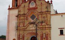 Jalpan Mission facade, Sierra Gorda, Mexico