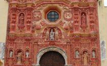 Landa Mission facade, Sierra Gorda, Mexico