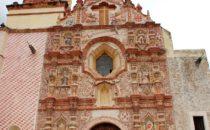 Mission Tancoyol facade, Sierra Gorda, Mexico