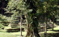 Plaza der Mayastätte Yaxchilán in Chiapas, Mexiko